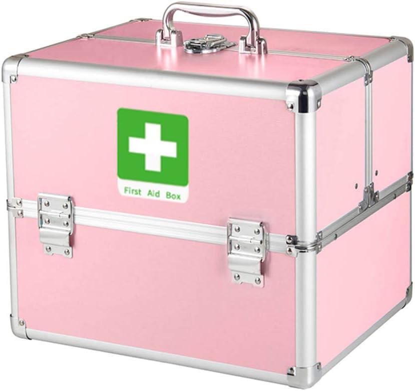 Medicine Box Portable Finally Washington Mall resale start Double-Open Three-Layer Lock