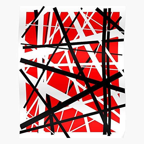 Eddie Roth Lee Halen Guitar Like Hell Evh Music David Run Wolfgang Van Geschenk für Wohnkultur Wandkunst drucken Poster 11.7 x 16.5 inch