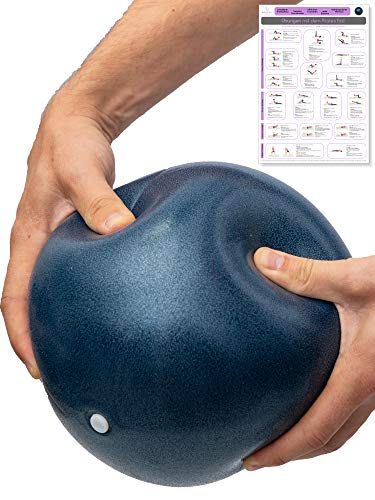 beneyu ® Rutschfester & Superleichter Soft Pilates Ball - Gymnastikball Klein - 23cm +Übungen