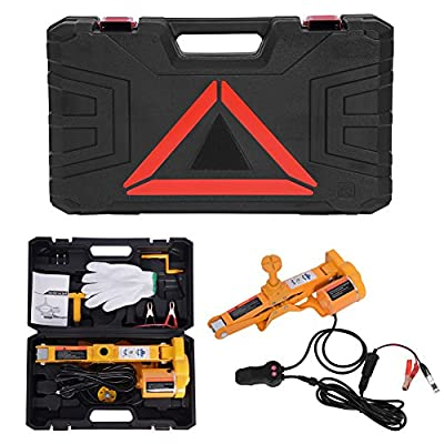 Automotive Car Electric Jack,12V DC Electric Scissor Car Jack Lifting Tire Wheel Repair Changing Kit SUV Van and Emergency Equipment
