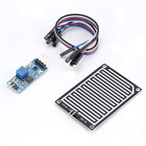 Surobayuusaku Rain Sensor Raindrops Water Detection Weather Humidity Module Kit for Arduino