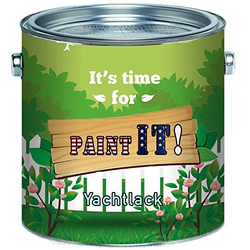 Paint IT! langfristiger 2-Komponenten Bootslack Set für GFK, Polyester und Kunststoff Yachtlack inkl. Härter GLÄNZEND ALLE RAL Töne und klarlack Bootsfarbe Yachtfarbe Lack (2,5 L, Moosgrün RAL 6005)