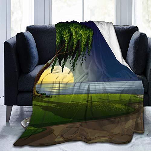 Landscape.. Manta de franela transpirable ultrasuave de 152 x 127 cm