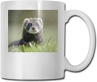 かわいいフェレットPolecatイタチMustela CUPS 11OZプリントデザインおかしいコーヒーマグtシャツカップ