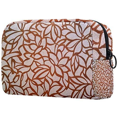 Bolsa de maquillaje de flores de diente de león de oro, bolsas...