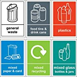 GNKJYY-T Recycling bin Signo /Sticker pack - Self adhesive vinyl...