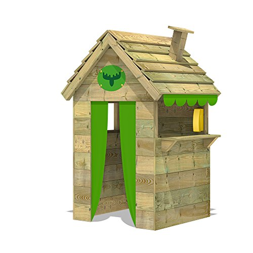 FATMOOSE Casa de juegos de madera BeetleBox Bling XXL, Parque infantil para el jardín, Casita de exterior para niños