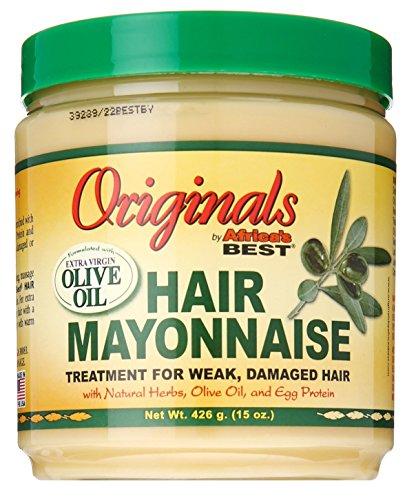 Africas Best Orig Hair Mayonnaise 15 Ounce Jar (443ml) (2 Pack)
