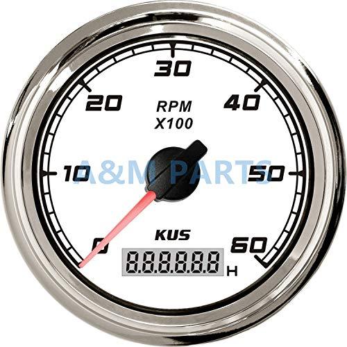 Tivivose MUS flete marítimo tacómetro Bogie Coche, Barco velocímetro con Pantalla LCD Digital de cronógrafo Impermeable 0-6000 RPM clasificación de Velocidad 0,5 hasta 25.085 mm