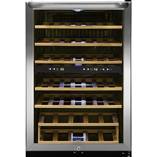 Frigidaire FFWC3822QS Two-Zone Wine Cooler with 38 Bottle Capacity Wooden...