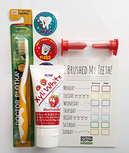 Doctor Plotka's Youth Antimicrobial Floss Bristle Silver Toothbrush, Toothpaste,2020 Pandemic Care Items Make Great Stocking Stuffers!