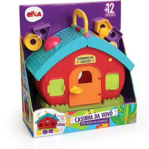 Brinquedo Educativo Casinha da Vovo Encaixe Formas, Elka, Sortido