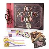 Álbum de recortes, ideal como regalo para aniversario familiar, cumpleaños, boda, día de Acción de Gracias o Navidad, color Nuestro libro de aventuras