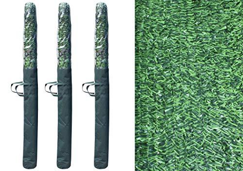 Pal Ferretería Industrial Rollo de seto Artificial ignífugo Verde de ocultación 3x1.5m (3- Rollos seto 3x1.5)