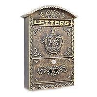 セキュリティ耐久性のある家庭用メールボックス、壁に取り付けられたメールボックス、レトロなクリエイティブな家の装飾アイアンアートブロンズメールボックス、壁に取り付けられた高貴なキーボードレターボックス、メールボックスレターボックス