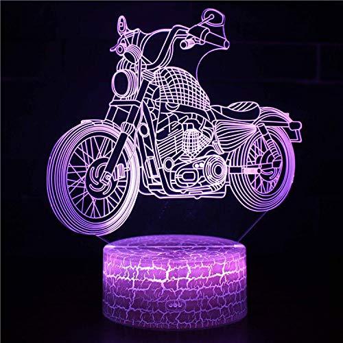 Sport Racing Speed Player Motorrad Motorrad Trick Schwere Lokomotive F1 Harley 3d Tischlampe Led Schlafzimmer Nachtlicht Weihnachtsdekoration 7 Farben Ändern Kinder Geschenk
