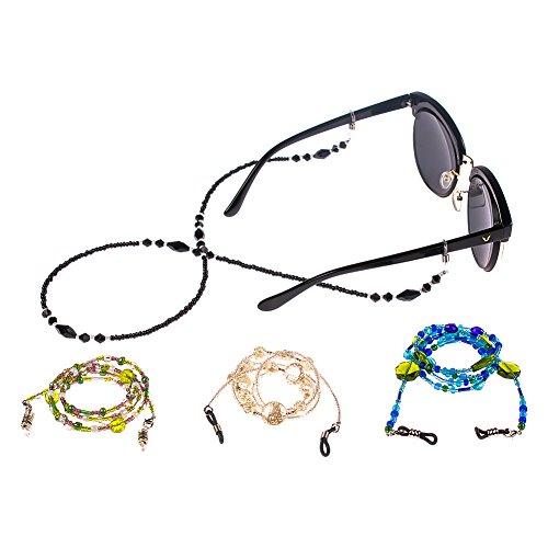 Soleebee Soleebee 4 Stück Universal Brillen Ketten Schnur Mode Glasperlen Brillen Halter kette Brillenband/Brillenkette/Brillen Cord/Sonnenbrille kette Hals Lanyard/Brillenhalter Hals Cord Strap