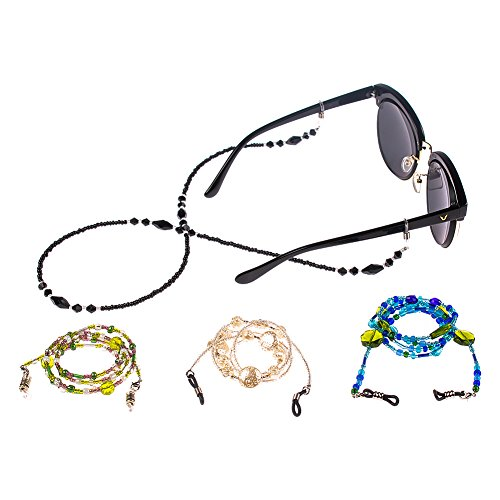 Soleebee Soleebee 4 Stück Universal Brillen Ketten Schnur Mode Glasperlen Brillen Halter kette Brillenband/Brillenkette / Brillen Cord/Sonnenbrille kette Hals Lanyard/Brillenhalter Hals Cord Strap