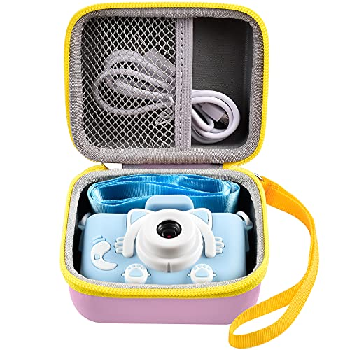 Camera Case Compatible with Seckton/ Rindol/ VATENIC/ Rikum/ GKTZ/ Hickeal/ OMZER/ OMWay/ Suncity Kid Toy Video Camera. Kids Digital Cameras Carrying Box for Cable, Battery, SD Card and Accessories