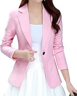 05cd43bb823e7b Yasong Women Long Sleeve Linen Feel Casual Work Formal Suit Smart Jacket  Blazer