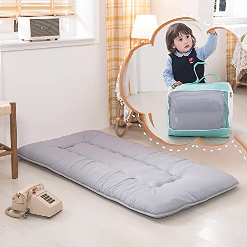 YOSHOOT Portable Toddler Travel Bed, Kids Memory Foam Floor Mattress Bed Foldable, Mattress for Toddler, Portable Travel Mattress Camp Mattress Tatami Mat, with Mattress Cover and Carry Storage Bag