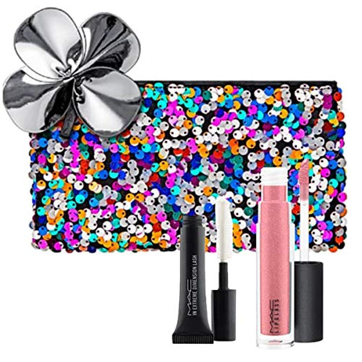 残酷な横に年金M.A.C ?マック, Sequin Cosmetics Case + 2 Cosmetics (Full Size Lipglass & Mascara Sample) [海外直送品] [並行輸入品]