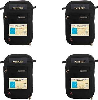 Cabana Sports Passport Holder (Black 4 Pack)