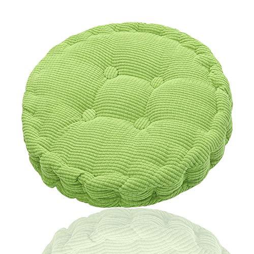 Generisch Cojín redondo para silla, cojín para silla colgante, cojín suave, asiento cómodo, yoga, meditación para el hogar, cocina, comedor, oficina, 45 x 45 cm (verde)