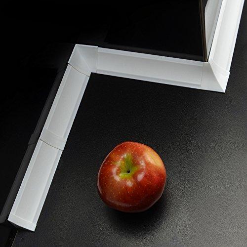 [DQ-PP] Innenecke für Winkelleisten Weiß Weiss für Küchen 23mm x 23mm Arbeitsplatten Grundprofil Abschlussleiste Küchenabschlussleiste Tischplattenleisten