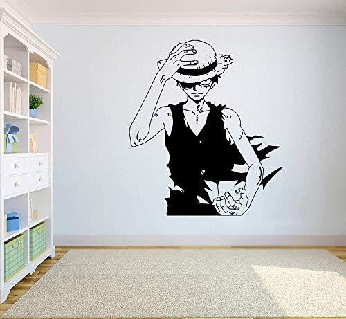 supmsds Gadgets Wrap Wand Vinyl Aufkleber Top Anime Wandkunst AFFE D. Ruffy Vinyl Aufkleber Dekor für Home Schlafzimmer Design H57X65CM