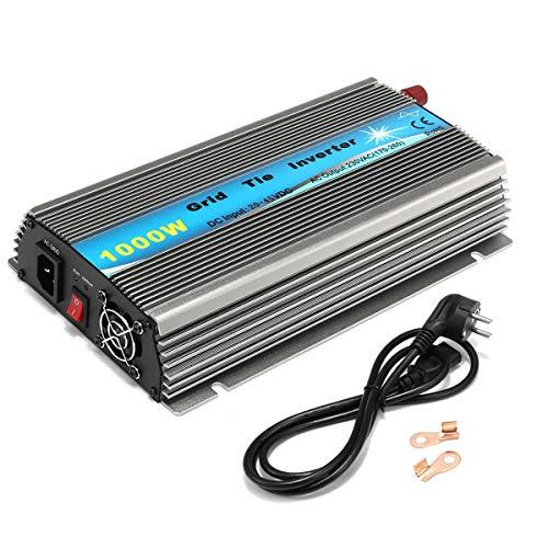 WonVon 1000W Grid Tie Inverter,110V Power Inverter DC 22-50V MPPT Pure Sine Wave Inverter for Solar Panel System