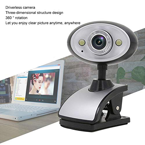 Schimers Full HD webcam met webcam cover, computer laptop camera voor conferentie en videogesprek, pro stream webcam met plug and play video calling, ingebouwde microfoon