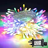 100 LED Christmas Lights, BIGHOUSE 10M/32.8ft Indoor/Outdoor Christmas Tree Lights, Waterproof Fairy String Lights with 8 Modes and Memory for Christmas Party Garden Wedding Decoration (Multi-Color)