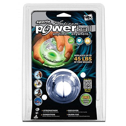 DynaFlex Platinum LED Hand Strengtheners Powerball, Green