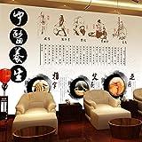 Papel Tapiz Mural Gran Medicina China Cultura Salud Pedicura Tienda Salón De Belleza Papel Tapiz Moxibustión Acupuntura Museo De La Salud 3D Decorativo Mural Revestimiento De Paredes-200Cmx140Cm
