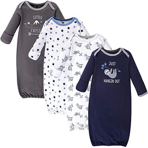 Hudson Baby Unisex Cotton Gowns, Little Explorer, 0-6 Months