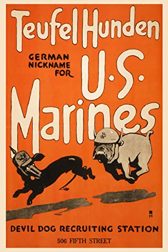 ClassicPix Photo Print 8x12: Teufel Hunden, German Nickname For U.S. Marines Devil Dog.
