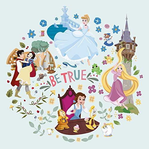 Grupo Erik Erik C20X25CM001 Cuadro Lienzo Canvas Princesas Disney Be True 30x30 cm, Verde