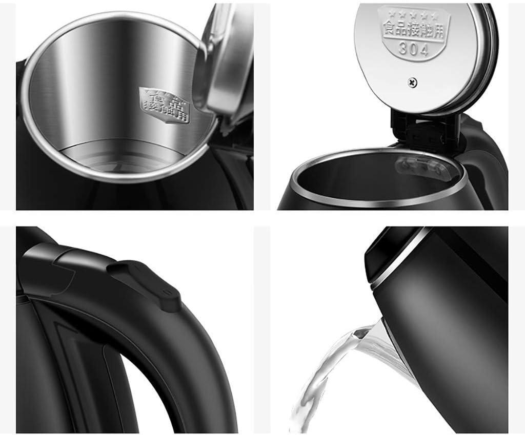 HLJ Bouilloire électrique 2L en acier inoxydable Cafetière 1500W rapide Chauffage/automatique Arrêt Faire bouillir la protection sec Sans BPA Cordle (Color : D) D