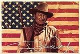 The Poster Corp John Wayne - American Flag Laminiertes