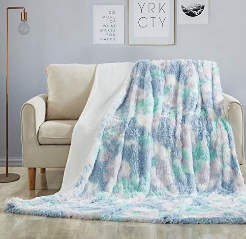 Hobed Life Fluffy Fur Kids Throw Standard Size 50 x 60 Inches, Thick Winter Blanket for Boys, Girls, Toddler, Child, Teens, Fantastic Fur Throw for Kids Bed, Twin Bed, Crib and Bunk, Pastel & Unique