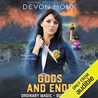 Gods and Ends                   By:                                                                                                                                 Devon Monk                               Narrated by:                                                                                                                                 Khristine Hvam                      Length: 10 hrs and 32 mins     50 ratings     Overall 4.6