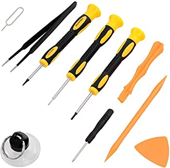 Repair Kit with Tools for All iPhone  4-XS Max  Samsung Galaxy Note - Magnetic Screwdriver Tool Set for Cell Phones and Mobile Devices - Fix iPhone Screen Battery with ScandiTech Toolkit