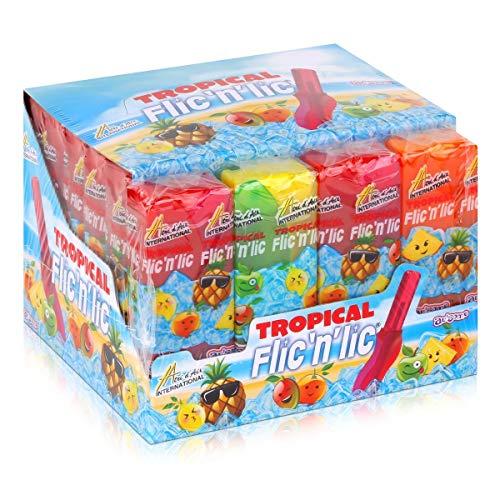 Flic'n'lic Lutscher Tropical 24 Stück 336g - Doppelter Fruchtgeschmack