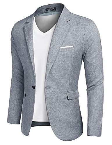 COOFANDY Chaquetas deportivas para hombre, chaqueta informal, chaqueta de ocio, chaqueta ligera, con un...