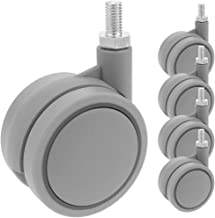 PrimeMatik - Zwenkwiel van nylon en polypropyleen zonder rem 60 mm M8 5-pack