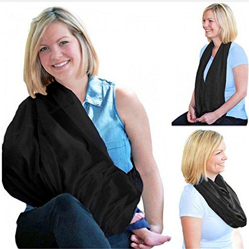 couvertures de Coque allaitement Noir Châle Écharpe d'allaitement pour nourrir bébé