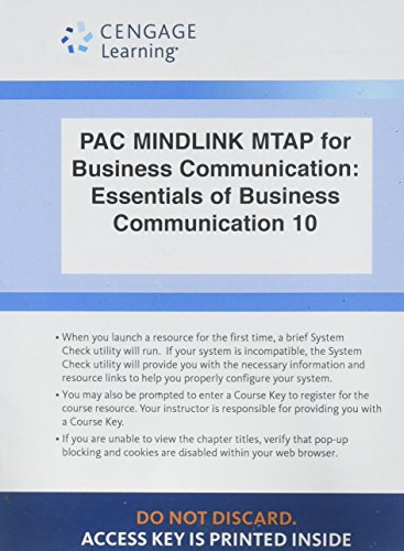 LMS Integrated for MindTap Business Communication, 1 term (6 months) Printed Access Card for Guffey/Loewy's Essentials o