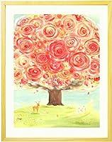 結婚記念日 プレゼント 両親 妻 絵画アート 「いのちの樹」 【名前入れ可・Mサイズ】 40周年 50周年 60周年 人気 ランキング 嫁 結婚10周年 贈り物