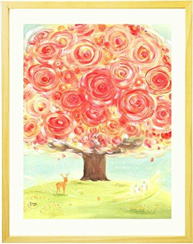 退職祝い 女性 プレゼント 絵画アート「いのちの樹」【名前入れ可・Mサイズ】 定年退職 記念品 母 送別品 餞別品 贈り物 人気ランキング ギフト